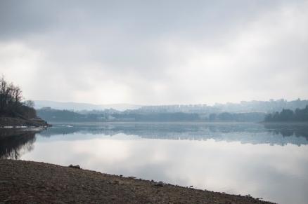 Brněnská přehrada, zima