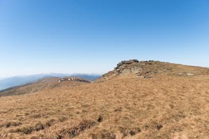 Nádherná stepní krajina se skalami, Nízké Tatry, Slovensko