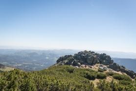 Pohled na Kráľovu skalu, Nízké Tatry, Slovensko