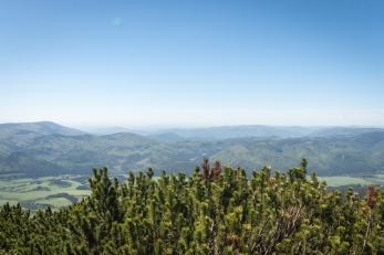 Výhled z Kráľove skaly na Slovenské Rudohorie, Nízké Tatry, Slovensko