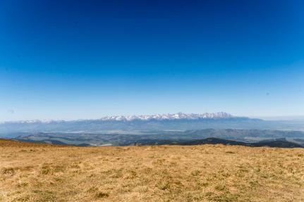 Výhled z Kráľove hoľe na Vysoké Tatry, Slovensko