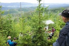20leté výročí blokády kácení Trojmezenského pralesa, Šumava 2019. Naučná stezka pralesem.